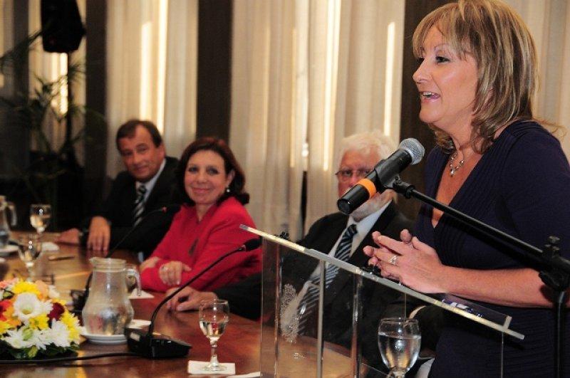 Carolina, Cosse, presidenta de Antel, en el lanzamiento del proyecto Antel Arena