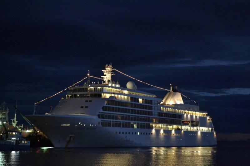 Crucero Silver Whisper en el puerto de Punta Arenas