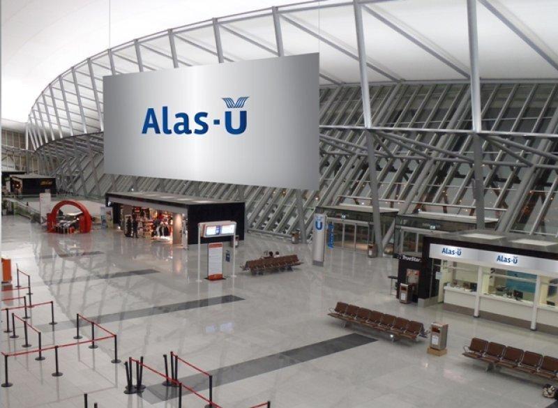Render de la proyectada presencia de Alas-U en el aeropuerto de Carrasco