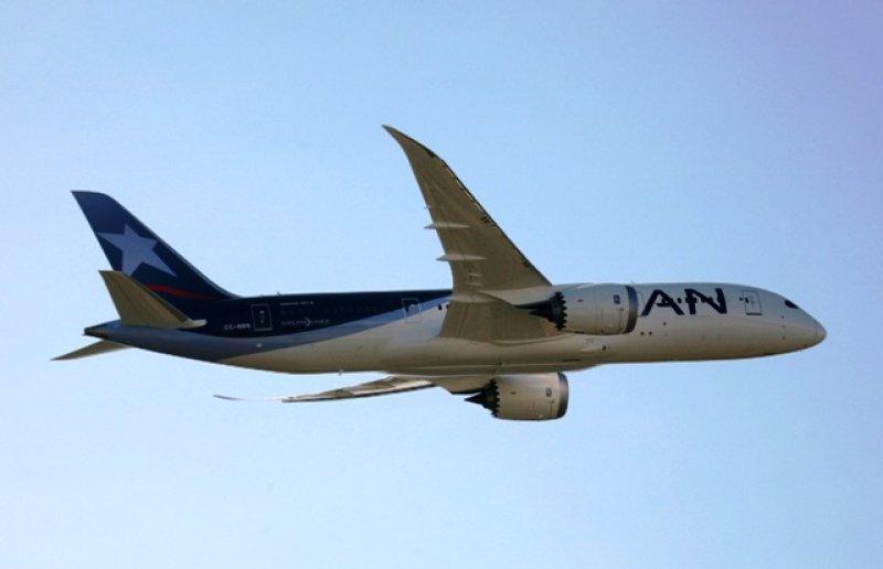 Vuelo de prueba de 787 Dreamliner de LAN