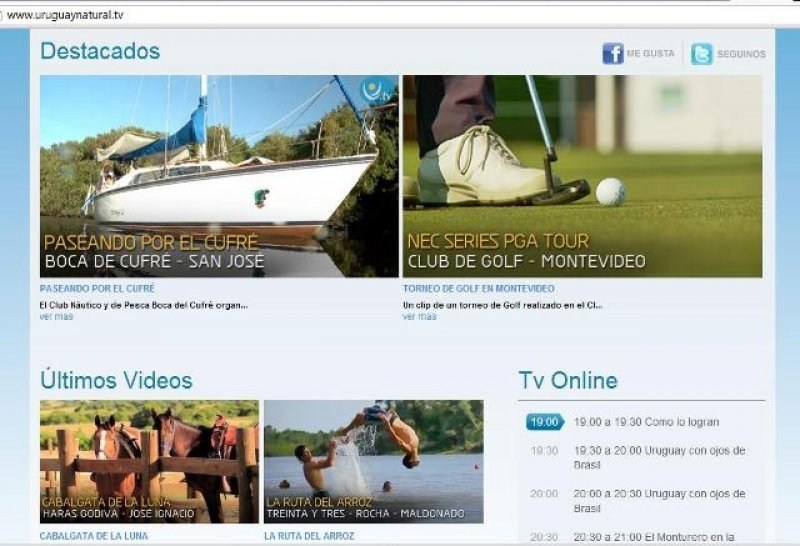 Canal online Uruguay Natural TV