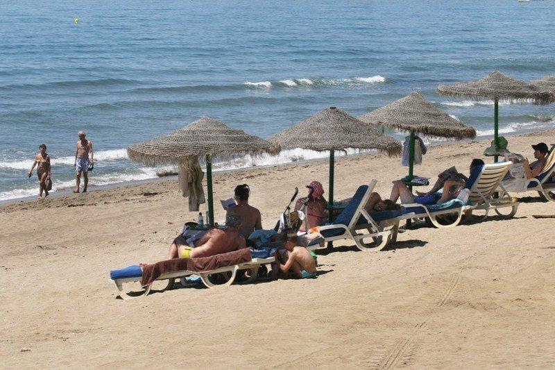 Una playa de Marbella.