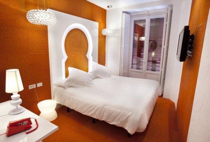 Habitación del hotel boutique La Posada del Dragón, en Madrid.