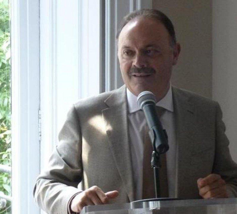 Víctor Moneo, jefe de ventas de Iberia, en el encuentro con agencias de viajes organizado en Barcelona por Ucave el 5 de junio.