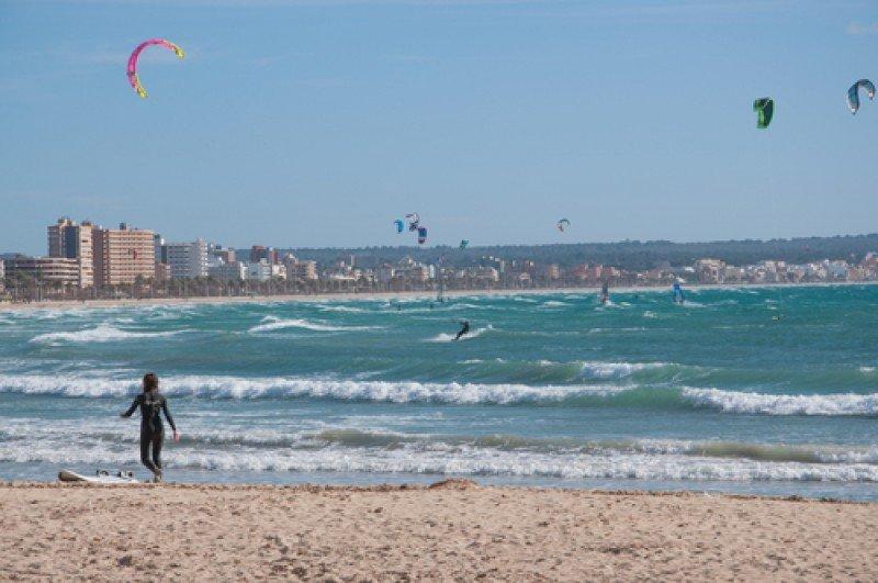 Fotografía captada en Playa de Palma el pasado 10 de febrero. #shu#