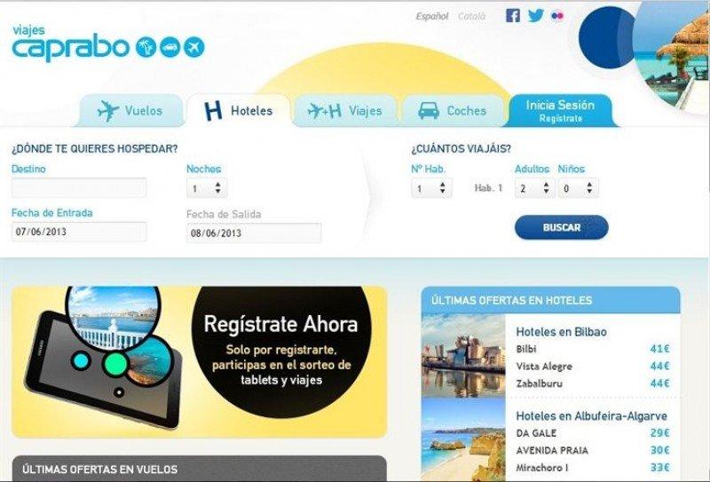 Caprabo desembarca en el sector de viajes con un portal online