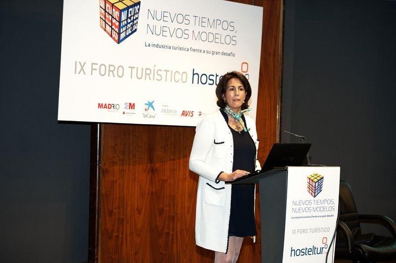 La secretaria de Estado de Turismo, Isabel Borrego, en una imagen tomada el pasado 29 de mayo, durante el Foro Hosteltur.