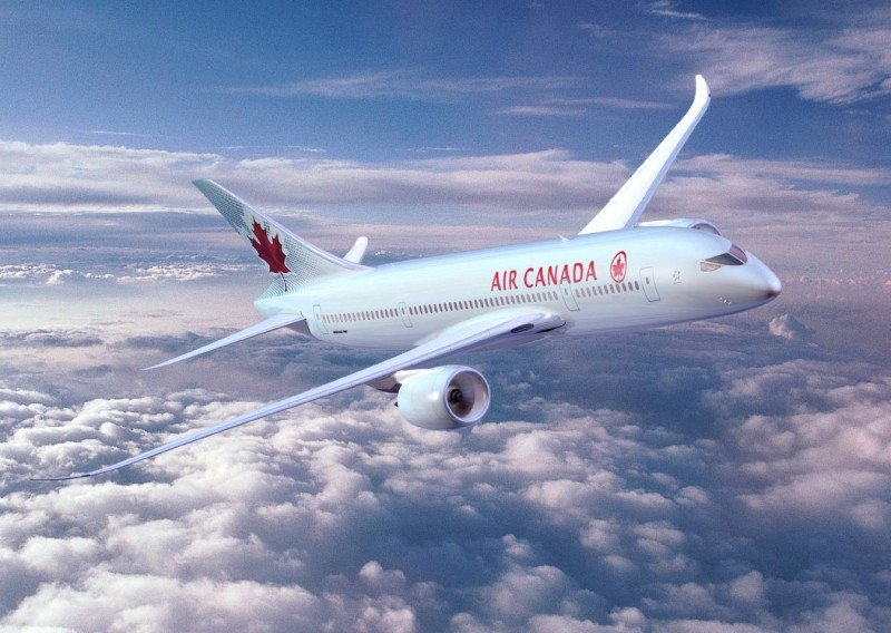 Imagen digital del B787 Dreamliner de Air Canada.