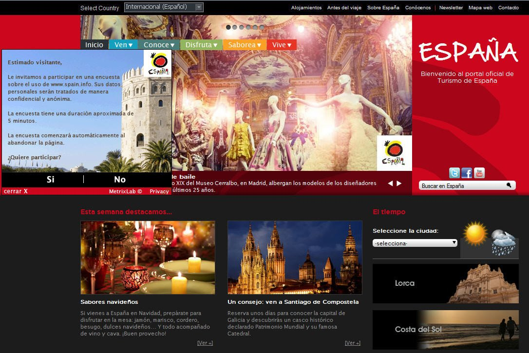 Spain.info hasta la fecha funcionaba como un portal de informacion, con propuestas de viajes en varios idiomas.