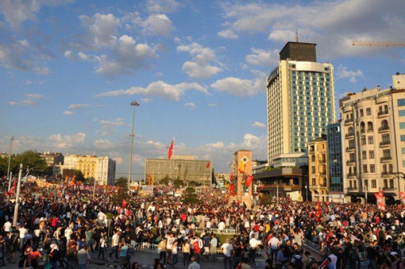 Manifestación en el parque Gezi, Estambul. #shu#