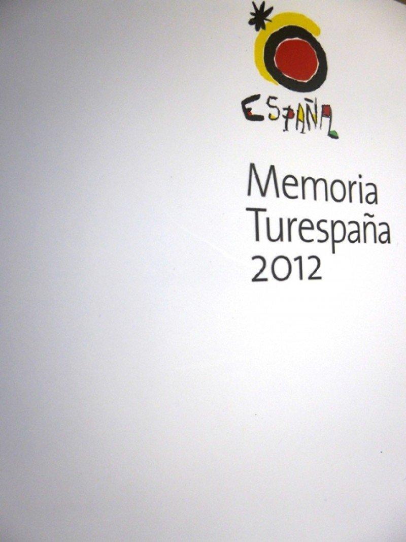Portada de la memorial anual de Turespaña.