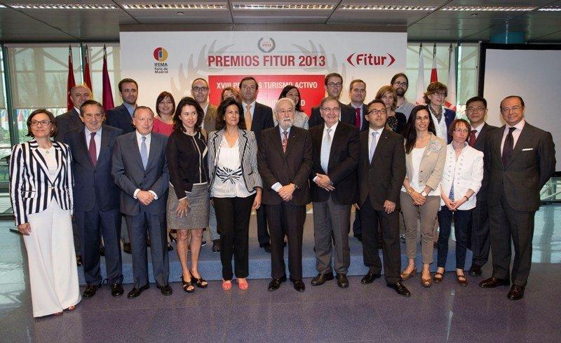 Entrega de los premios Fitur 2013.
