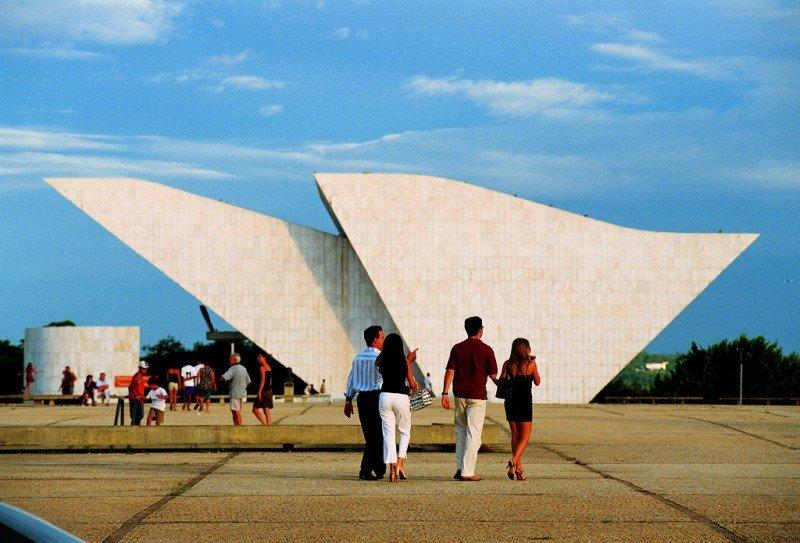 Plaza de los tres poderes, Brasilia. Foto: Embratur.