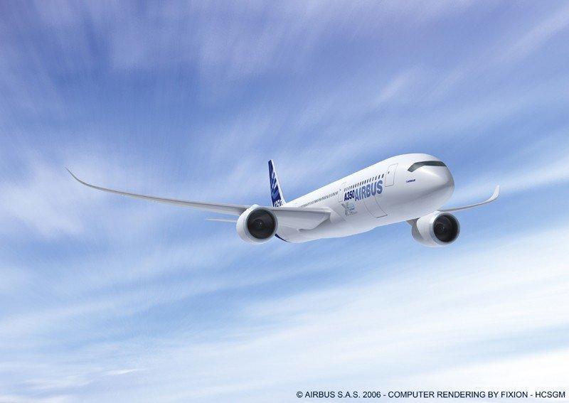 Airbus recibió varios pedidor para el nuevo A350 XWB aún en fase pruebas.