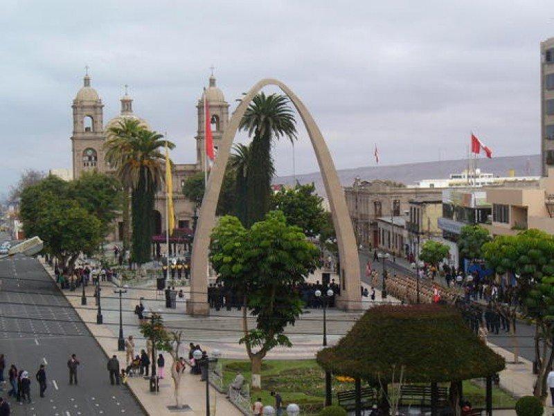 Centro de la ciudad de Tacna.