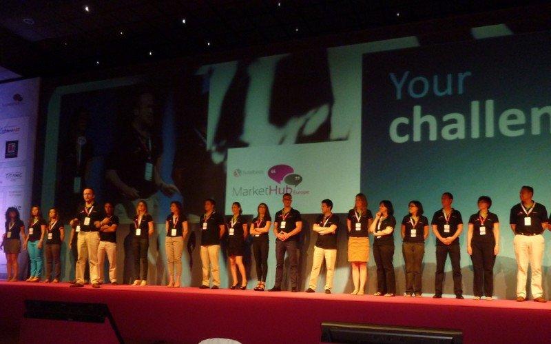 Los representantes del equipo de ventas de Hotelbeds ocuparon el escenario.