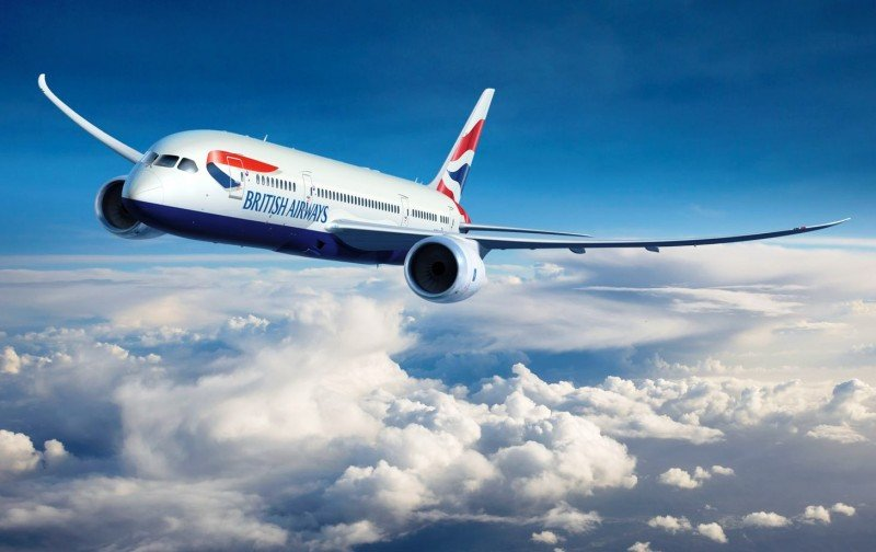 Ilustración digitalizada del nuevo Boeing 787-8 de British Airways.
