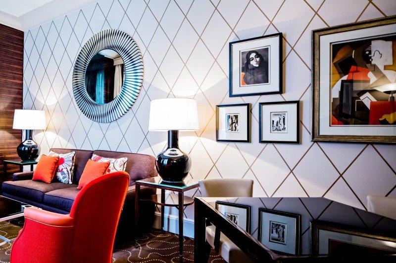 Fotografía del Living Room del hotel.