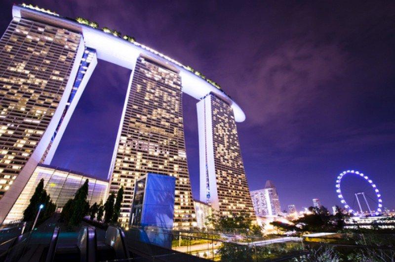 Marina Bay Sands Hotel en Singapur, operado por la compañía Las Vegas Sands. #shu#
