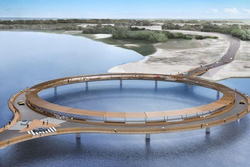 Proyecto de Rafael Viñoly para el puente en la Laguna Garzón, que unirá Maldonado y Rocha