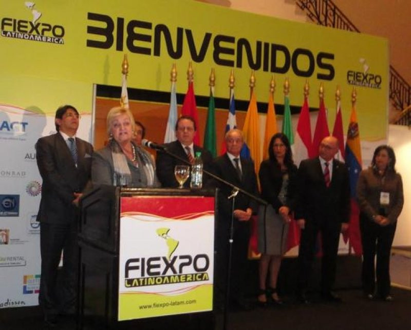 Ministra Kechichián en 6a. FIEXPO, en Punta del Este