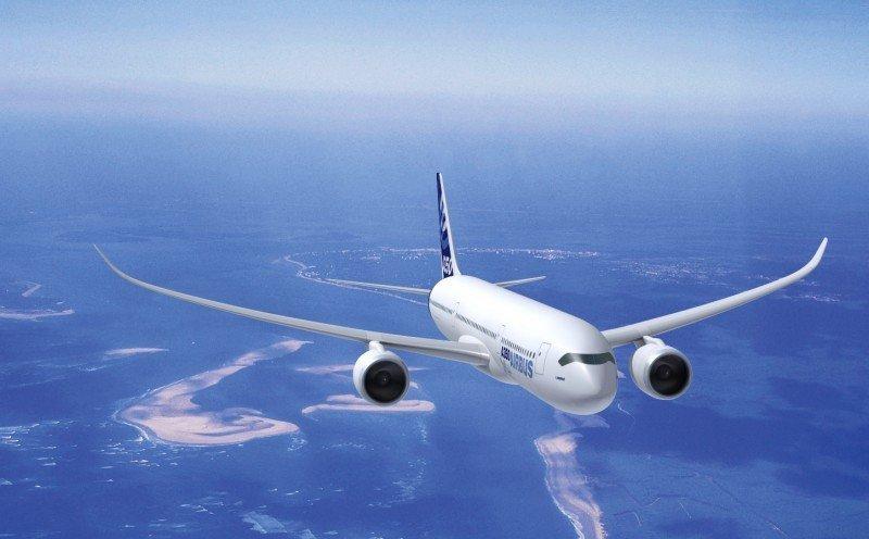 Ilustración digital del nuevo Airbus A350 XWB.