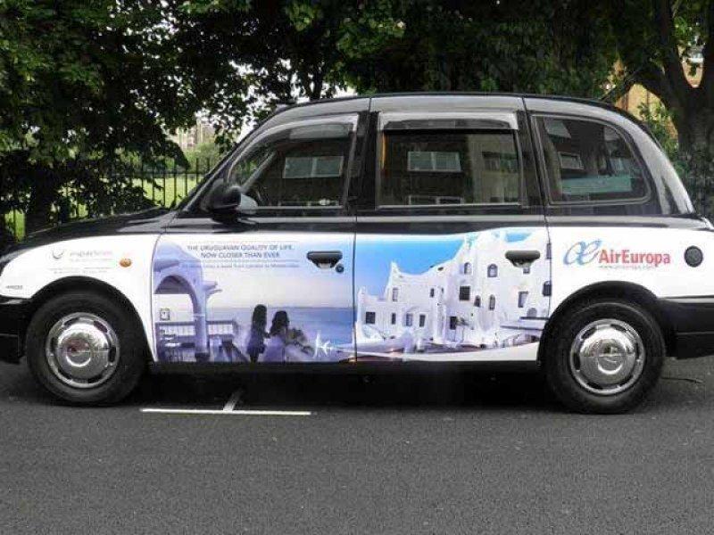 Imágenes de Uruguay en 78 taxis de Londres (Foto: El Espectador)