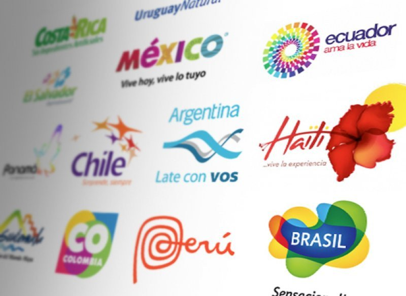 Logos de buena parte de los países presentes, y otros de la región