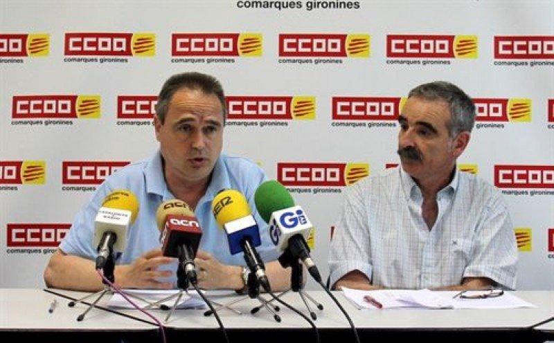 El secretario general de la Federación de Comercio, Hostelería y Turismo de CCOO de Girona, Josep Maria Montalbán