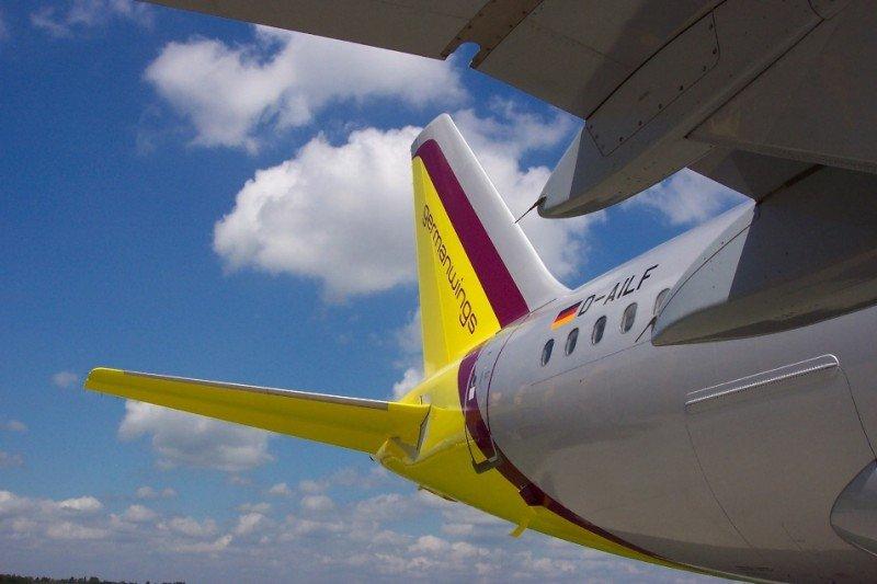 Los viejos colores corporativos de Germanwings.