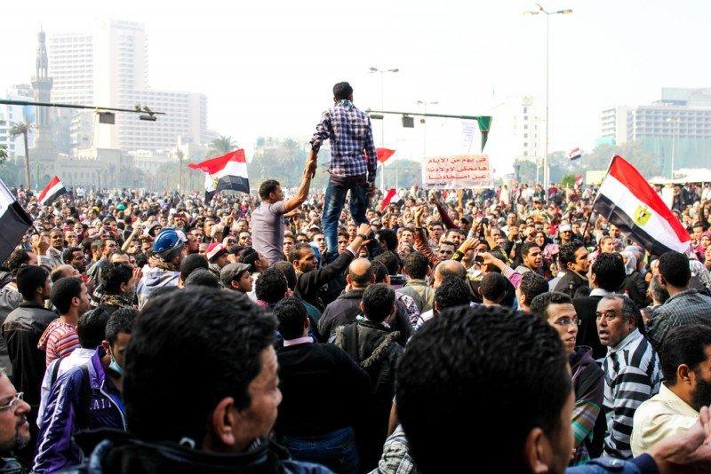 Imagen de las manifestaciones en la plaza Tahrir en El Cairo. #shu#