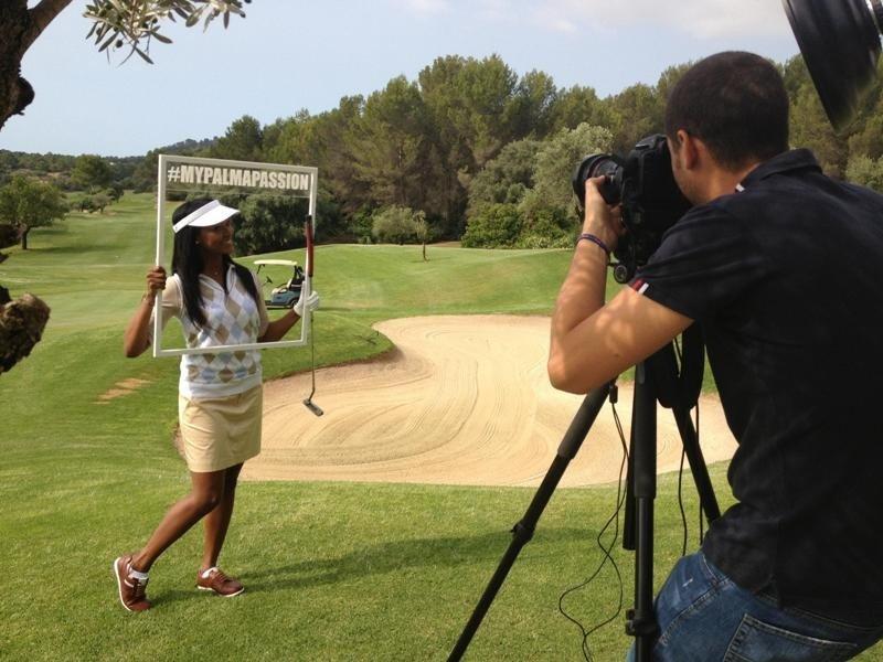 El campo de golf de Son Muntaner, donde se han realizado fotografías para una nueva campaña de publicidad de la Fundación Turismo Palma de Mallorca 365.