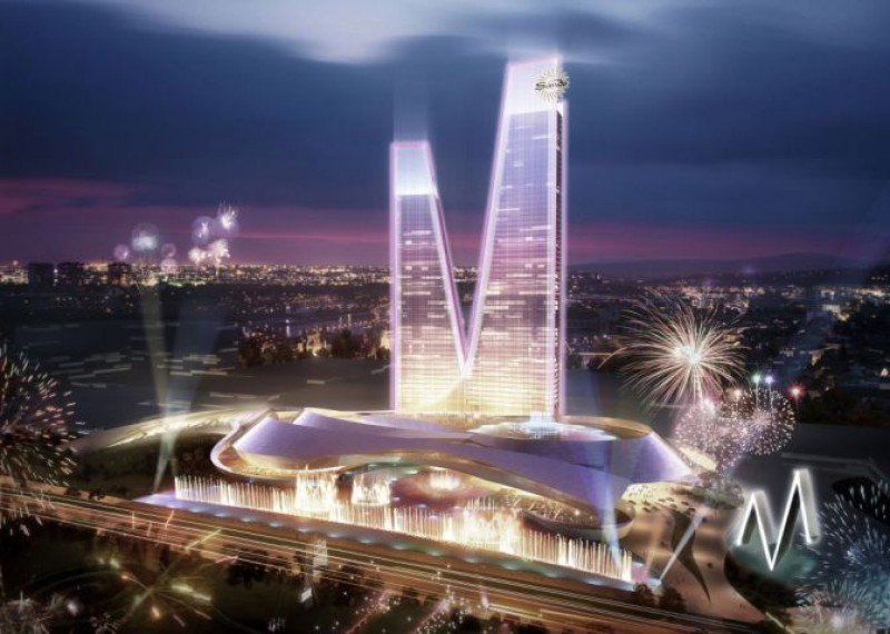 Uno de los bocetos presentados por las Vegas Sands sobre el futuro complejo Eurovegas.
