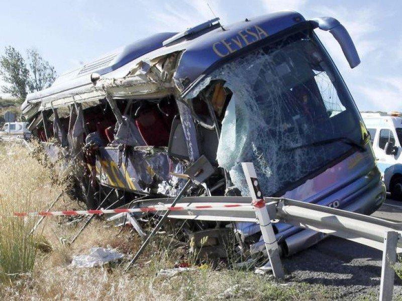 25 personas viajaban a bordo del autobús de Cevesa.