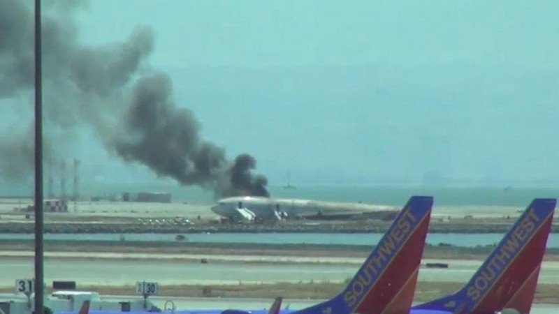 El avión de Asiana Airlines quiso corregir la trayectoria a 150 metros de altura