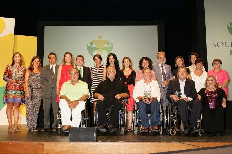 Imagen de los galardonados con los Premios Solidarios de la ONCE, entre ellos Meliá Hotels International.