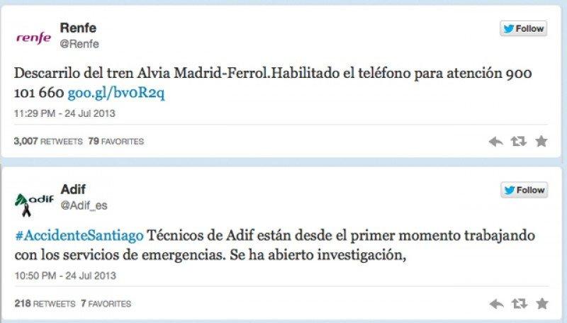 Las redes sociales se vuelcan con las víctimas del accidente de tren de Santiago de Compostela
