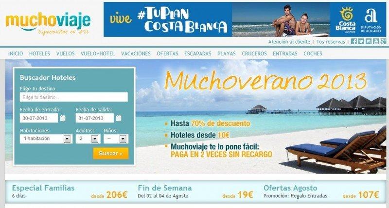 Muchoviaje.com tiene oficinas en Madrid y Bogotá.