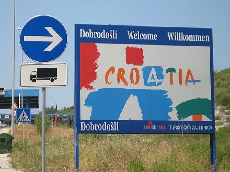 Puesto fronterizo en Croacia
