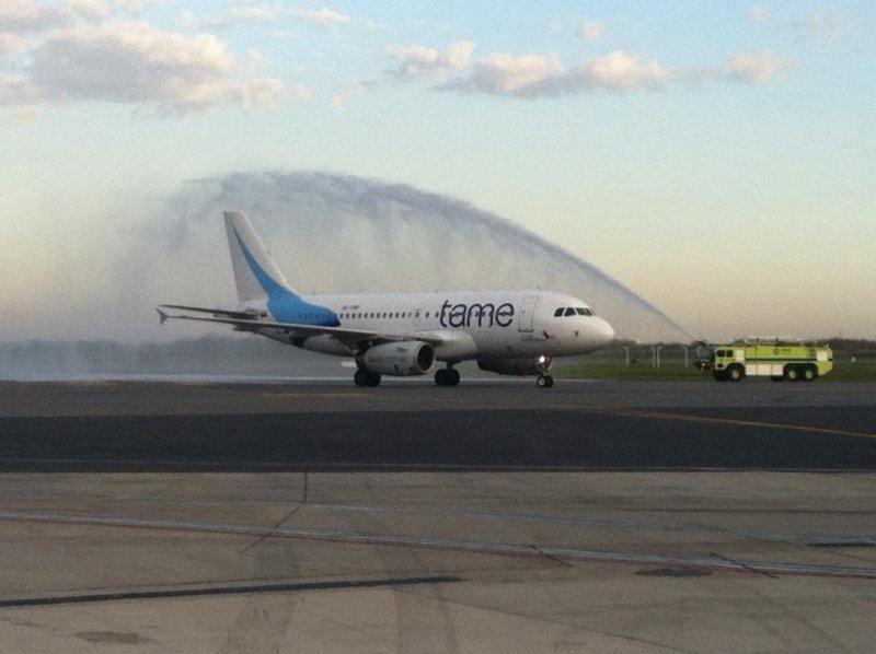 Vuelo inaugural Quito-Ezeiza, el 7 de junio pasado