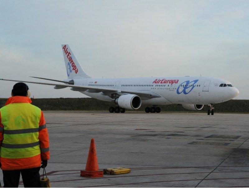 El avión llegó a Montevideo a la hora 9.20 del martes