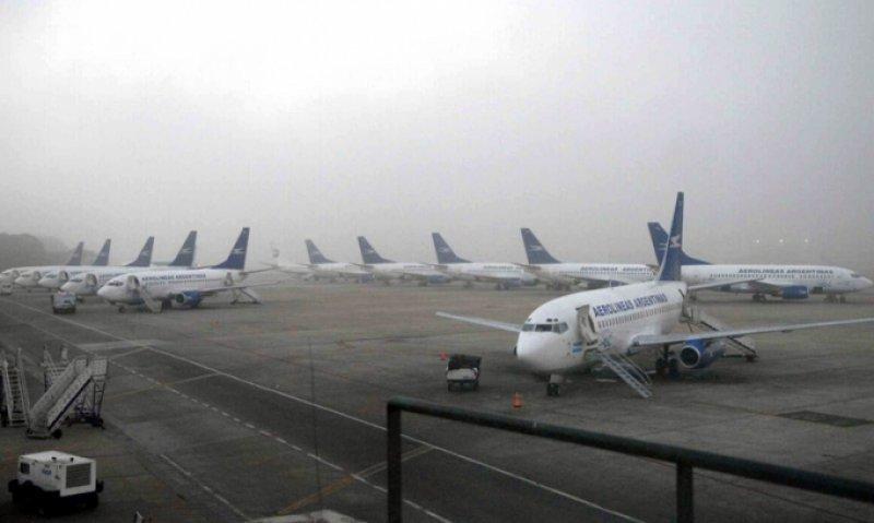 La niebla dificulta operaciones en el Aeroparque Jorge Newbery