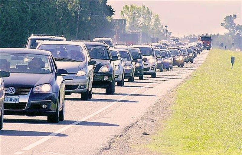 El último fin de semana hubo carreteras congestionadas en Argentina