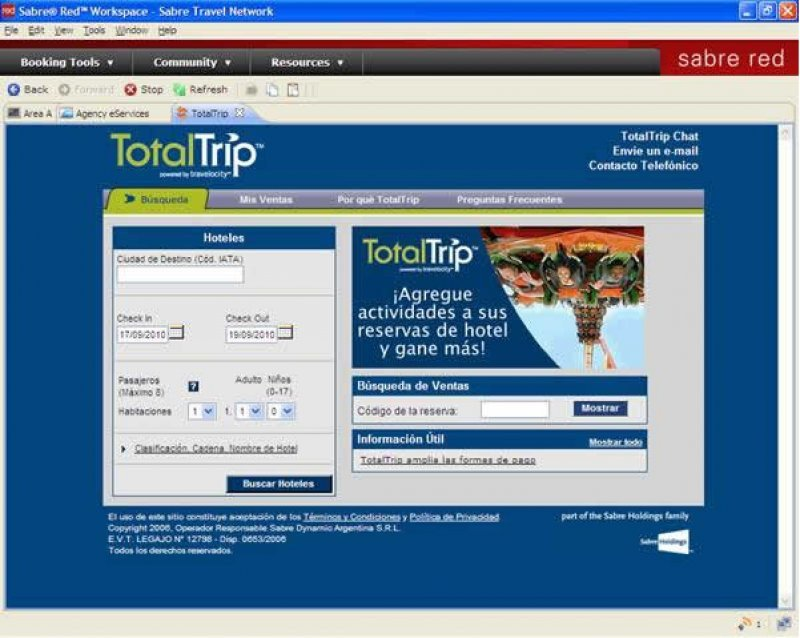Con 80.000 hoteles de Destinations of the World Sabre amplía TotalTrip