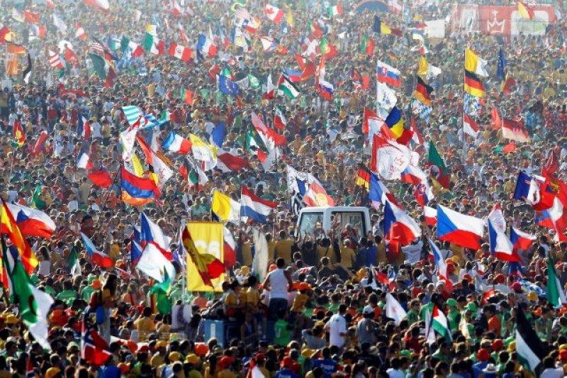 Una multitud visitó Rio para estar cerca del Papa