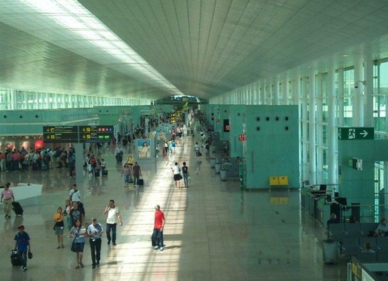Imagen de la T1 del aeropuerto de Barcelona.