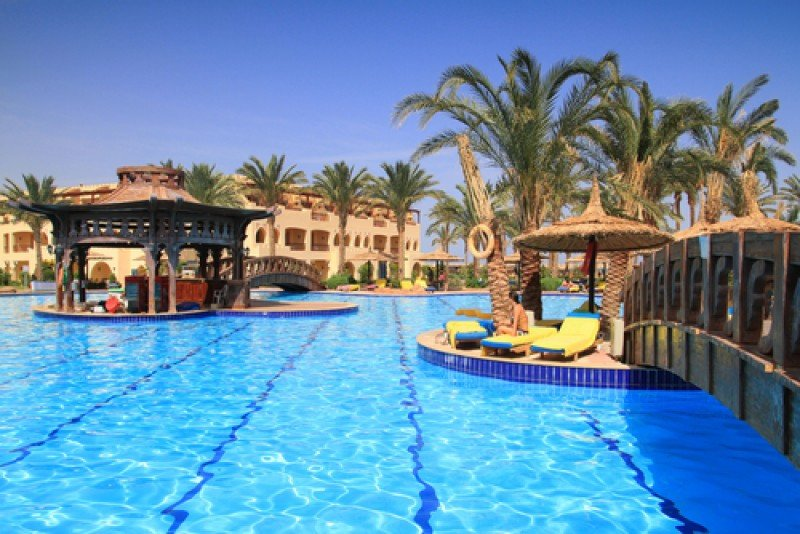 Complejo hotelero en Sharm el Sheikh, en la costa egipcia del Mar Rojo. #shu#
