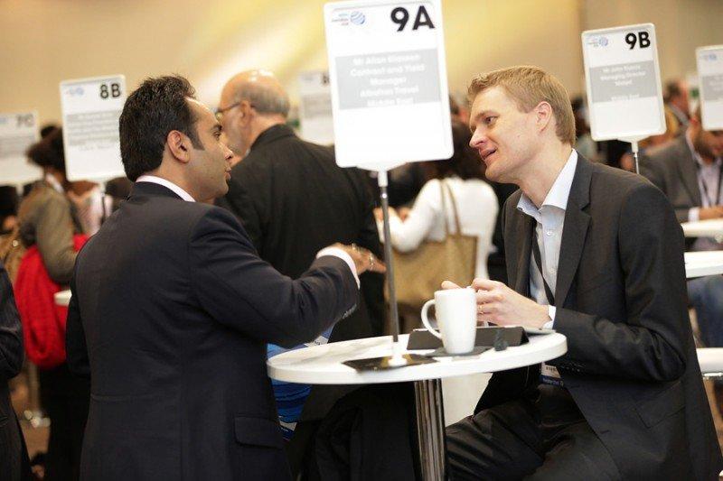 Citas rápidas de trabajo en la World Travel Market para hacer nuevos contactos.