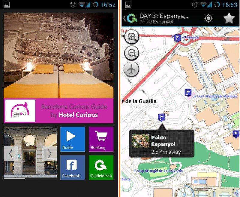 La nueva app desarrollada por el personal del hotel Curious de Barcelona.