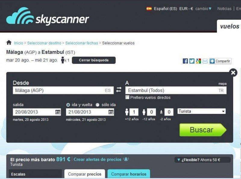 Skyscanner advierte a las OTA de que no pueden subir el precio al final